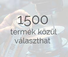 1500 termék közül válogathat